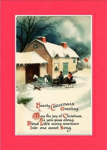 Hearty Christmas Greeting - PLYMOUTH CARD COMPANY  - 2