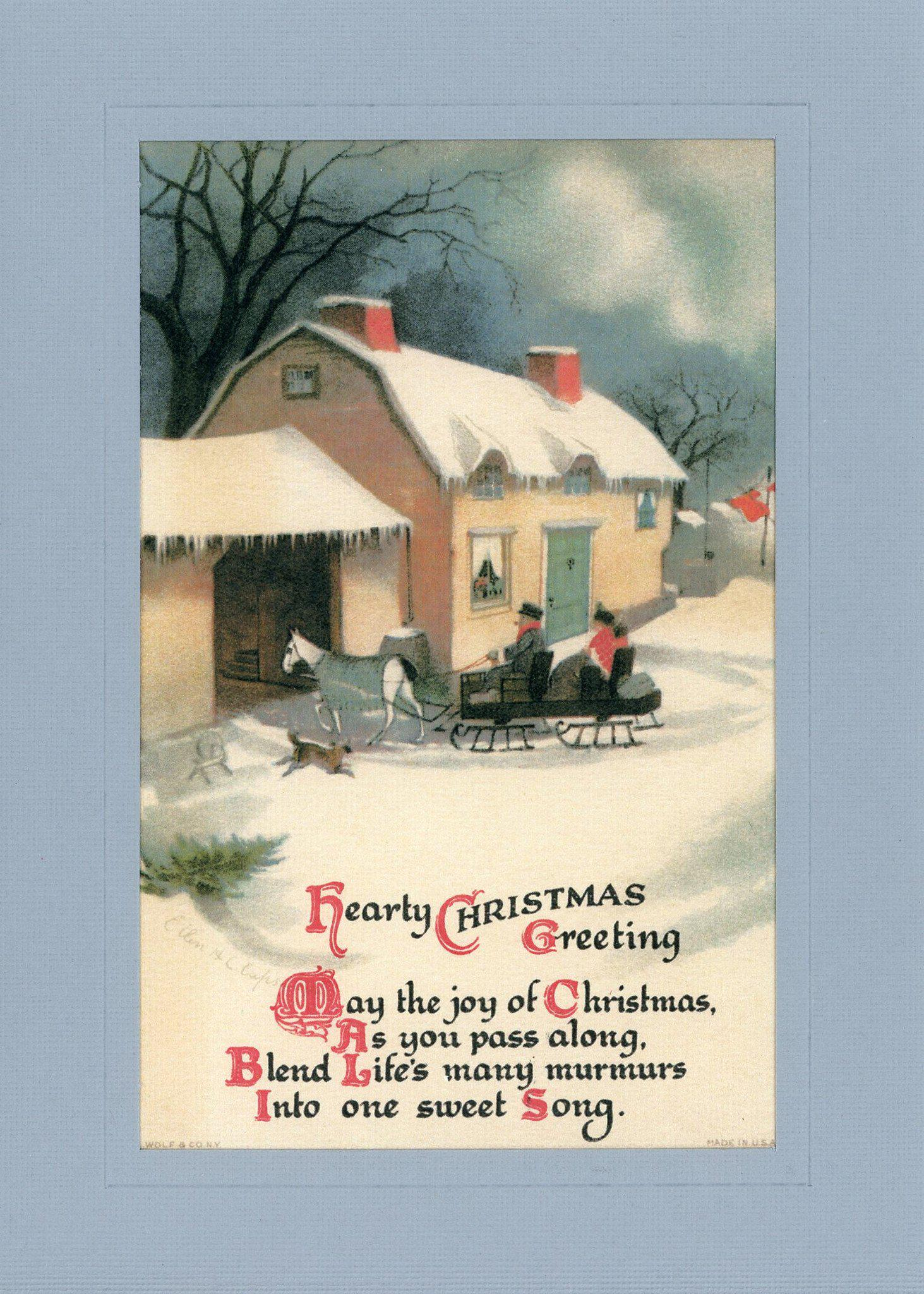Hearty Christmas Greeting-Greetings from the Past-Plymouth Cards