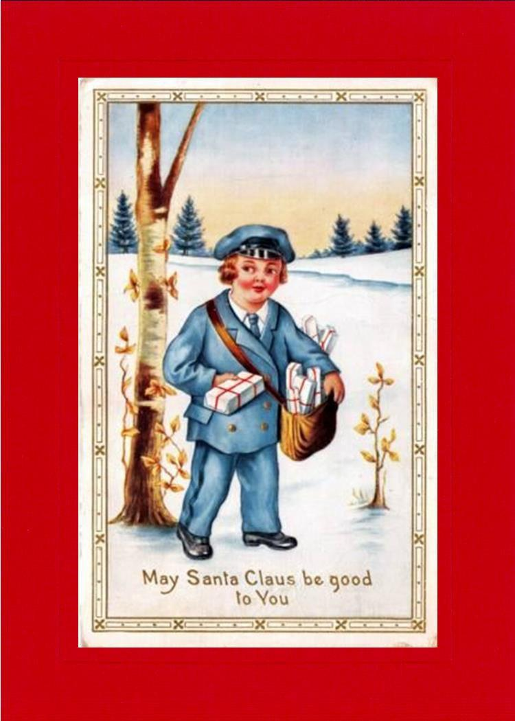 May Santa Claus Be Good to You-Greetings from the Past-Plymouth Cards