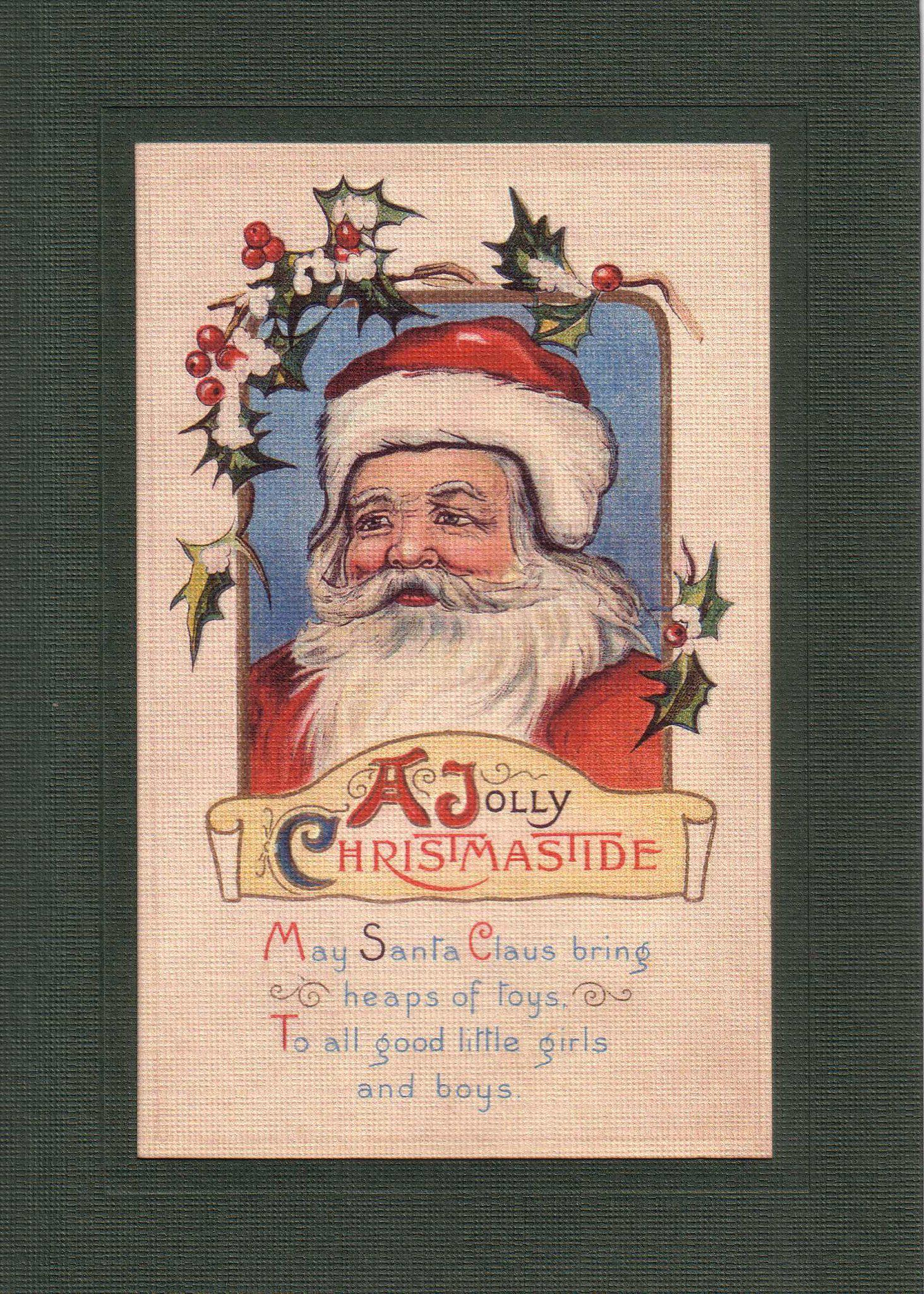 A Jolly Christmas Tide-Greetings from the Past-Plymouth Cards