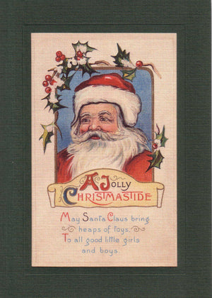 A Jolly Christmas Tide - PLYMOUTH CARD COMPANY  - 1