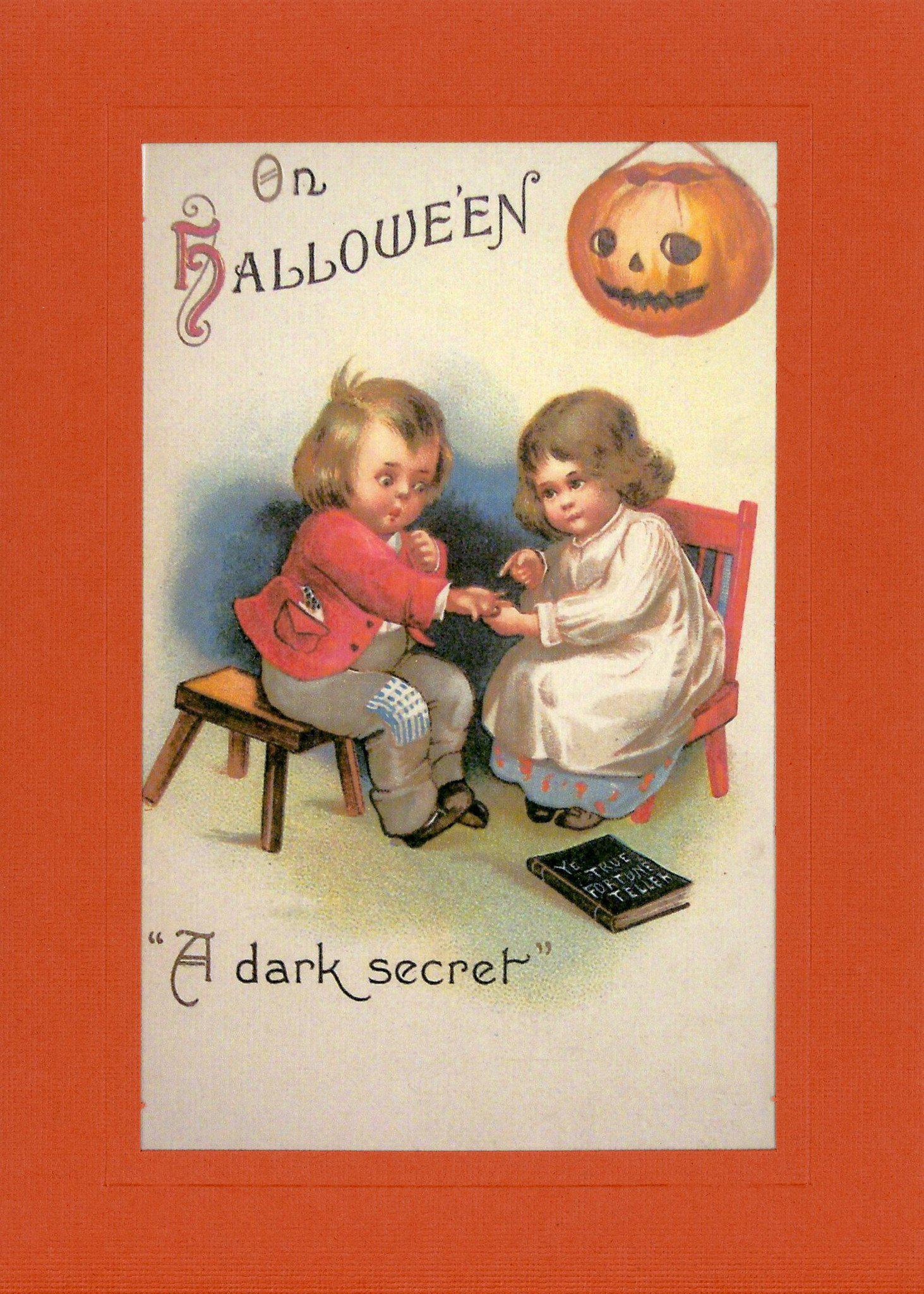 On Hallowe'en-Greetings from the Past-Plymouth Cards