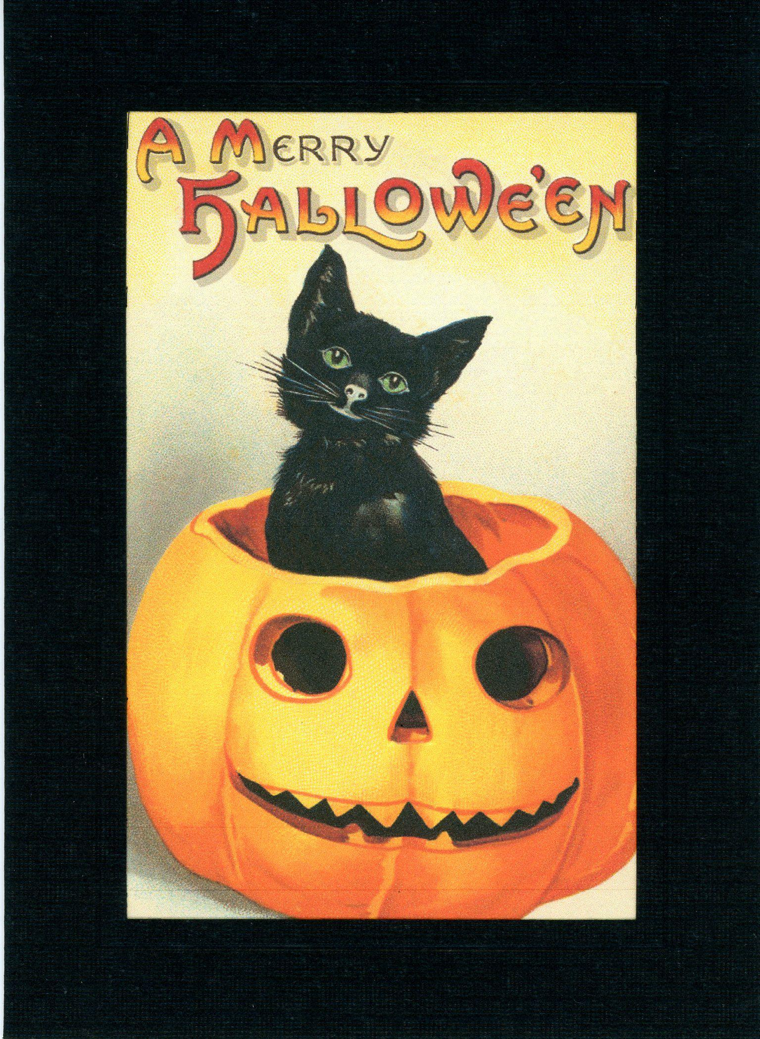 A Merry Halloween-Greetings from the Past-Plymouth Cards