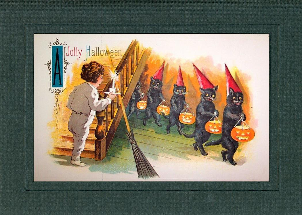 A Jolly Hallowe'en-Greetings from the Past-Plymouth Cards
