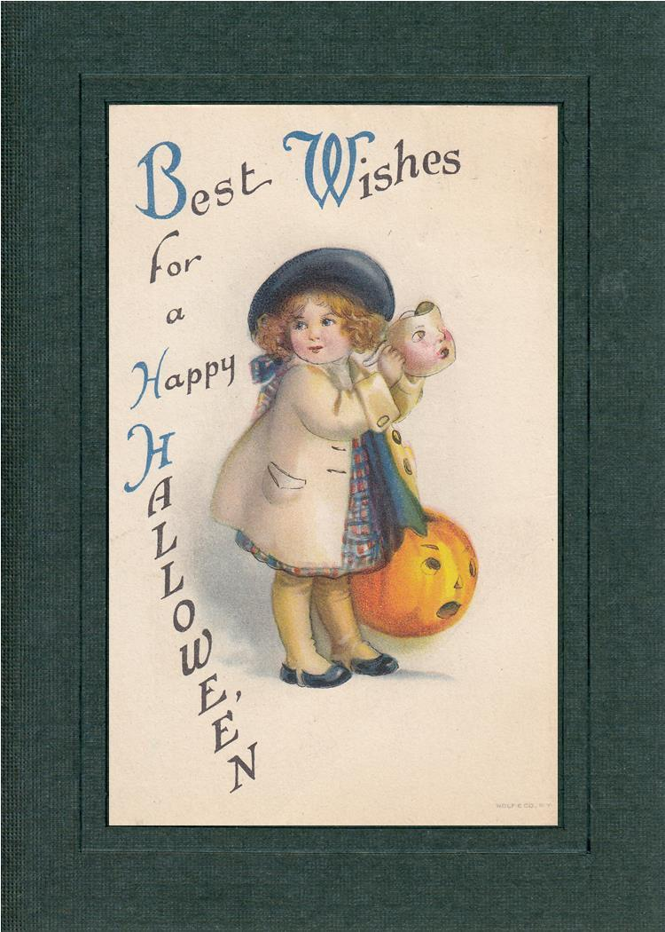 Best Wishes for a Happy Hallowe'en-Greetings from the Past-Plymouth Cards