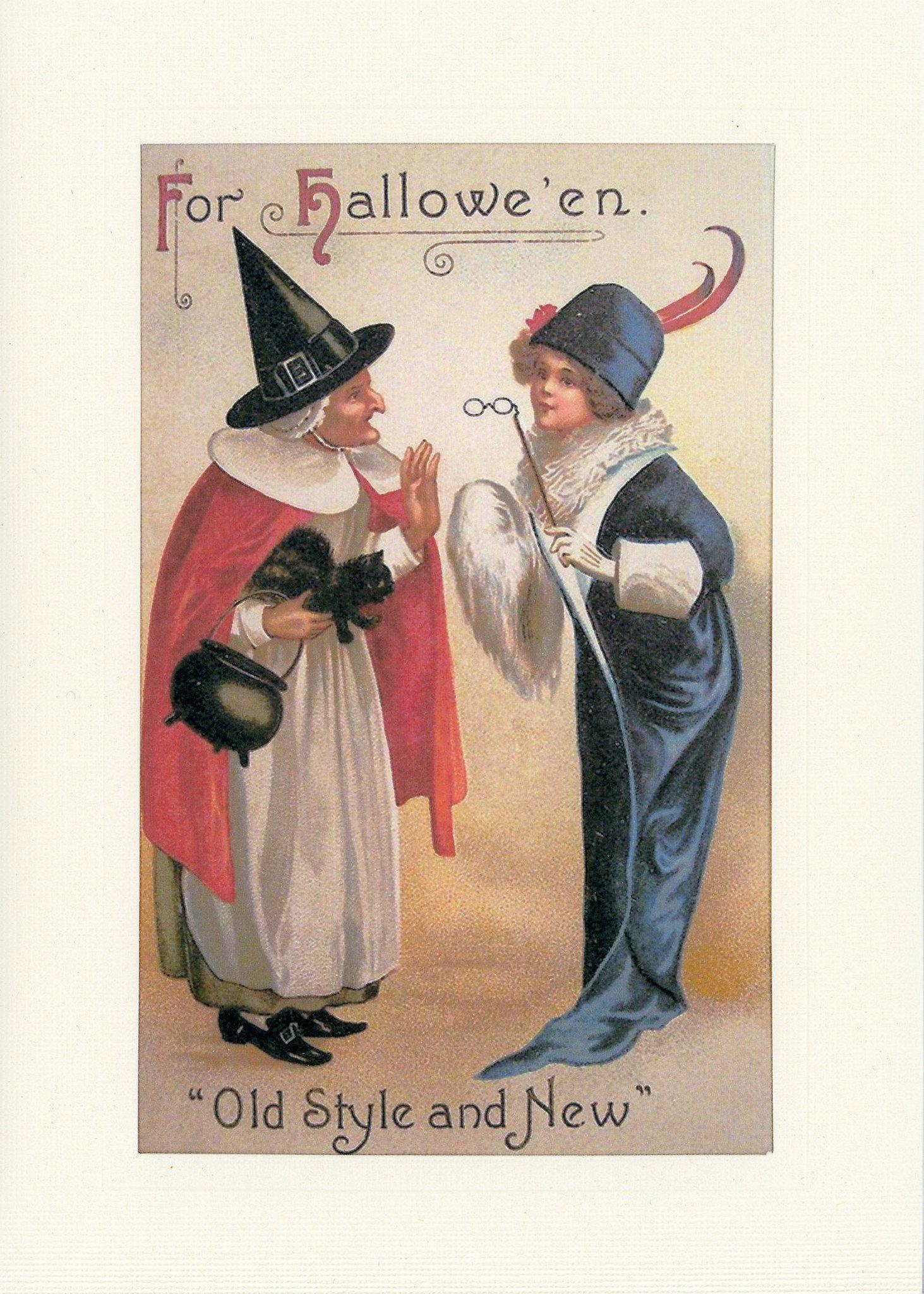 For Hallowe'en-Greetings from the Past-Plymouth Cards