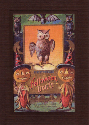 Halloween Don'ts-Greetings from the Past-Plymouth Cards