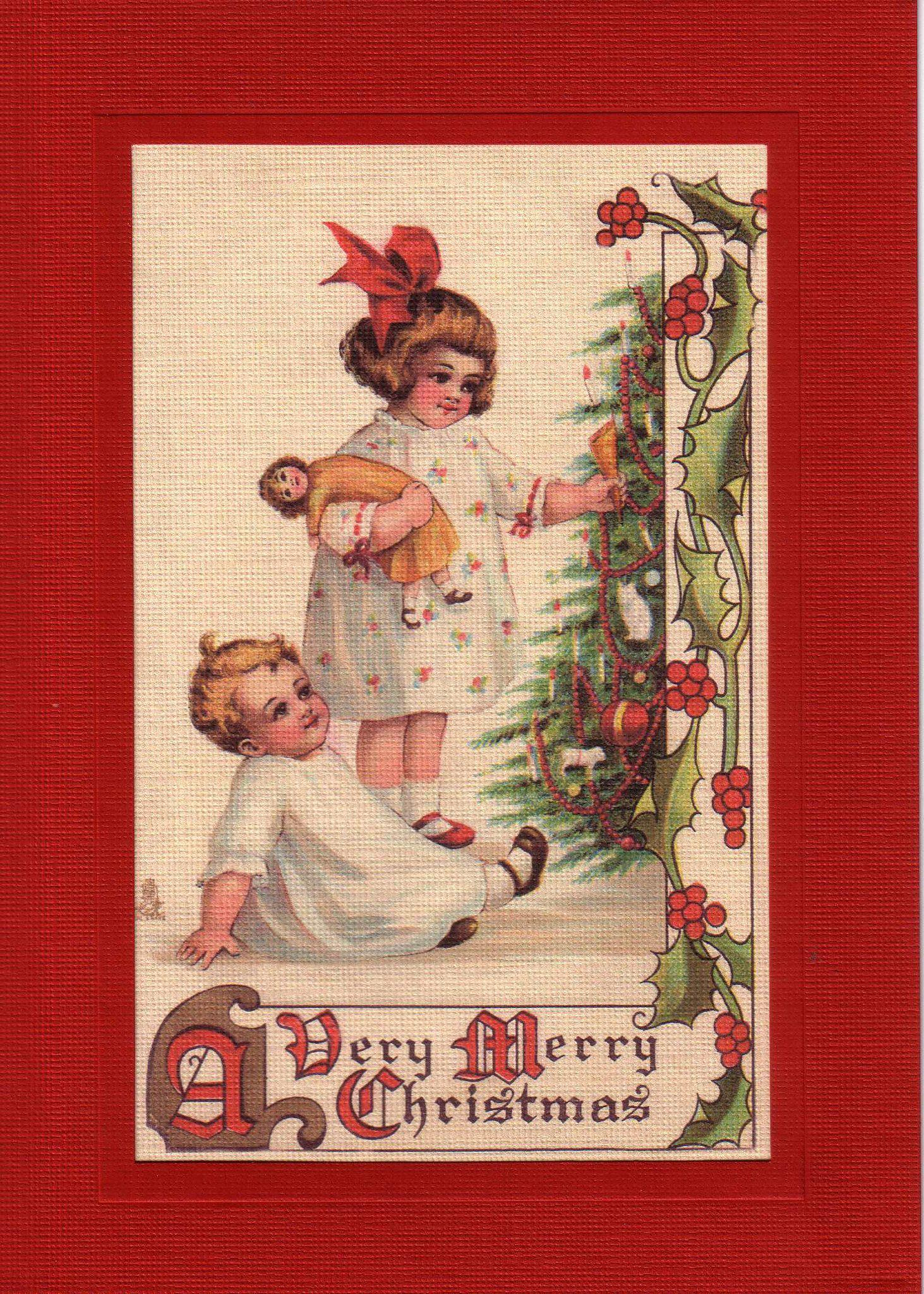 A Very Merry Christmas-Greetings from the Past-Plymouth Cards