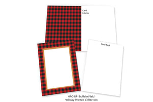 Buffalo Plaid-Photo note cards-Plymouth Cards