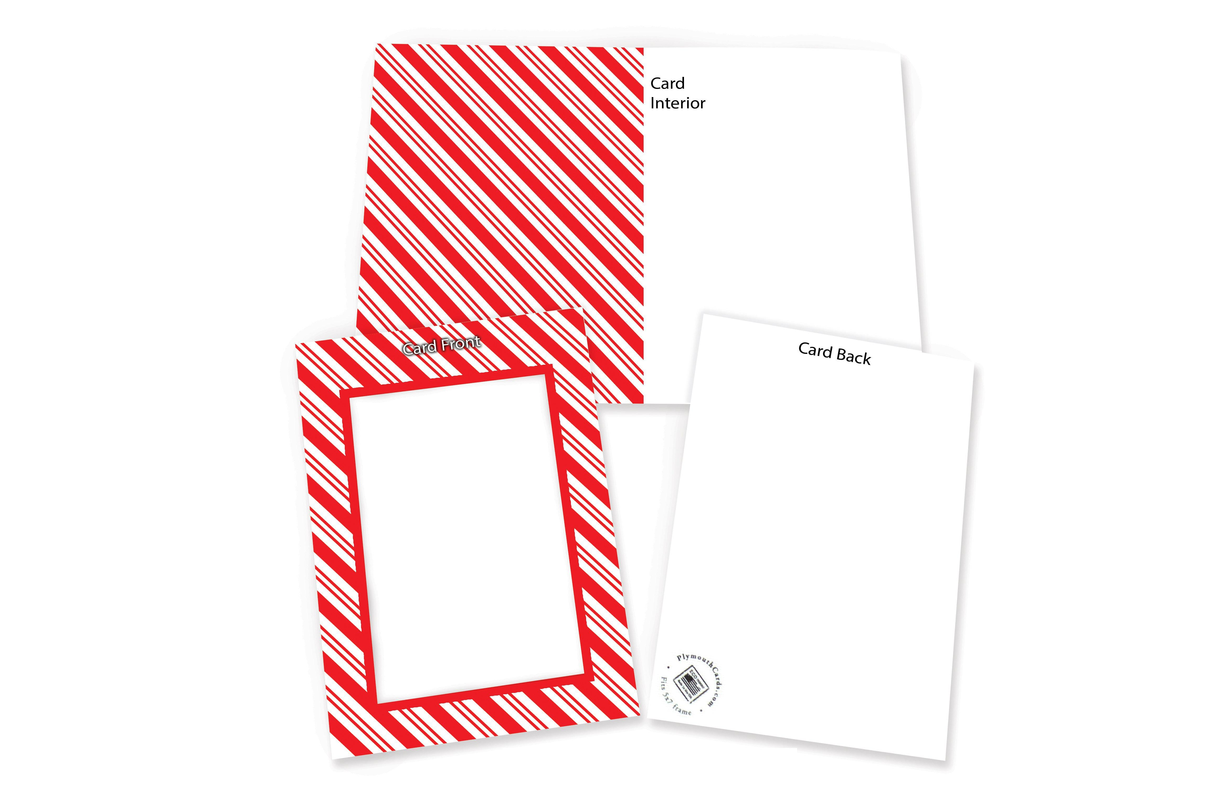 Red White (Candy Cane) Stripe-Photo note cards-Plymouth Cards