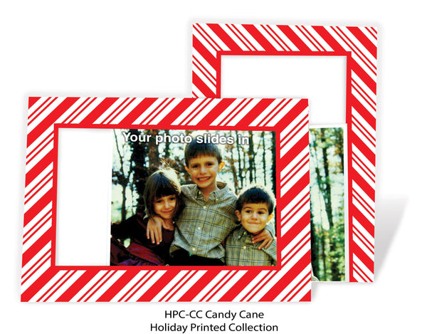 Red White (Candy Cane) Stripe Photo Greeting Card