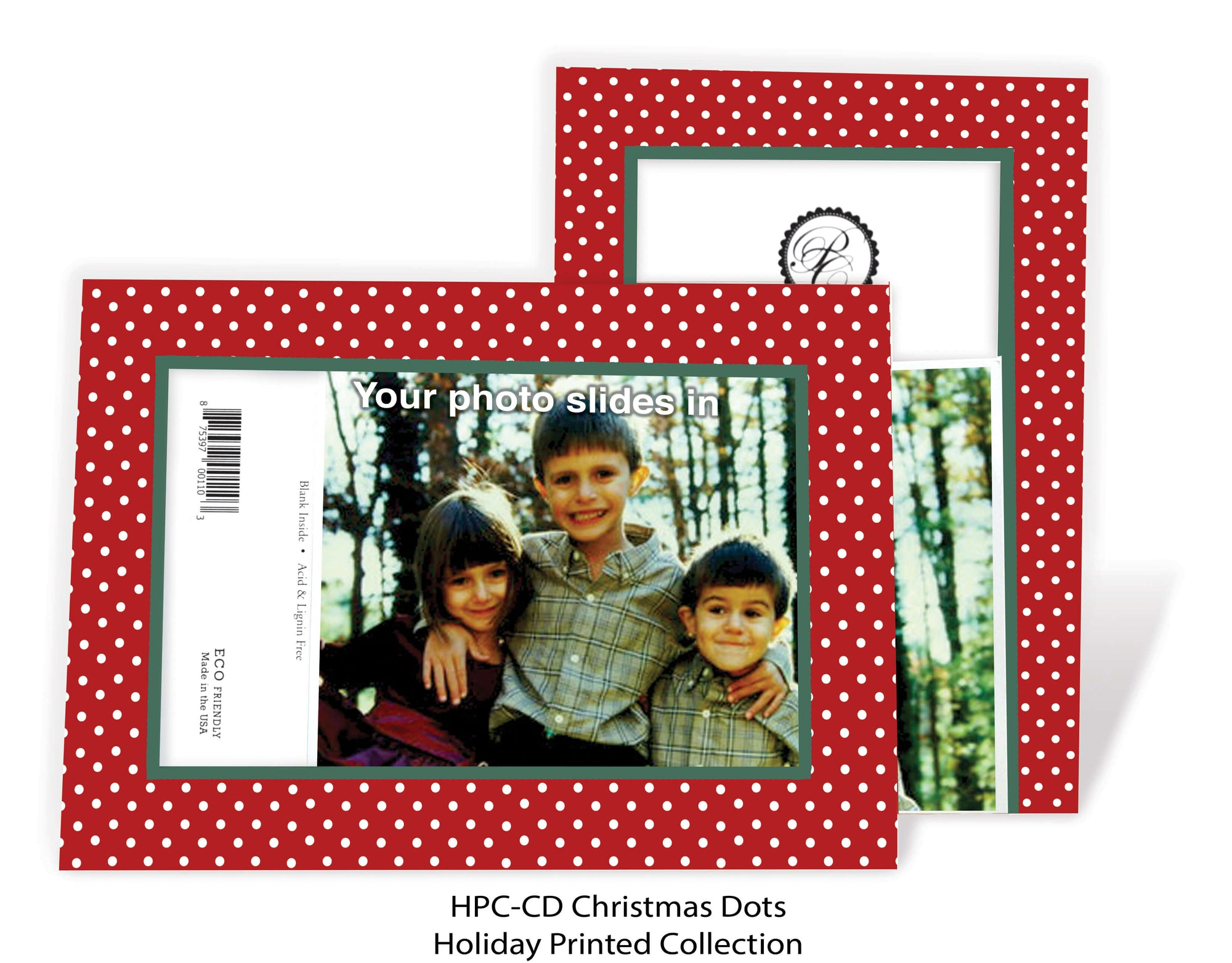 Christmas Dots-Photo note cards-Plymouth Cards