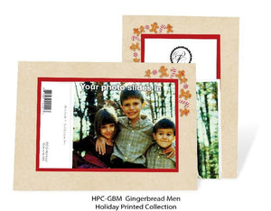 Gingerbread man photo insert card front