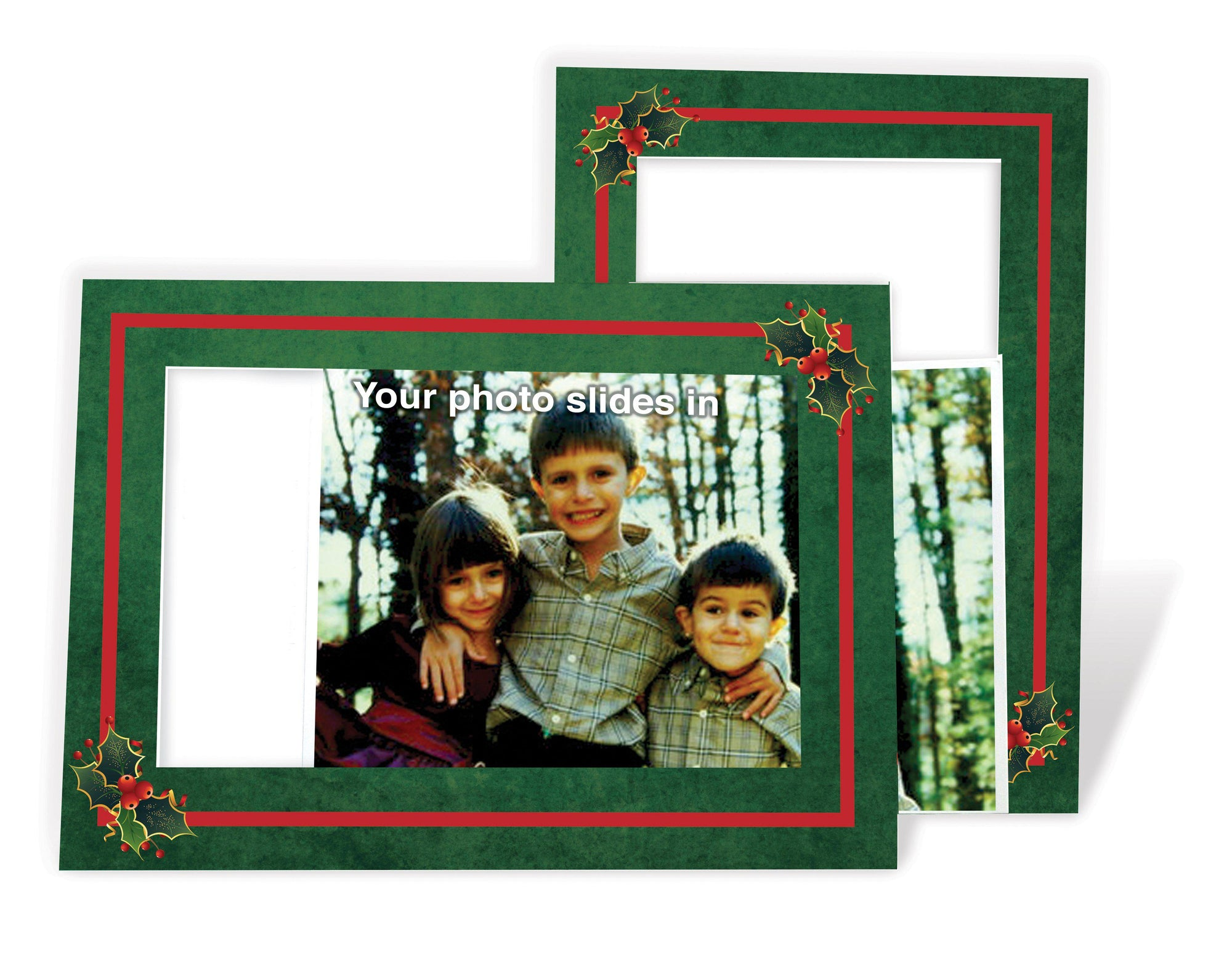 Holly - with pre-printed message-Photo note cards-Plymouth Cards