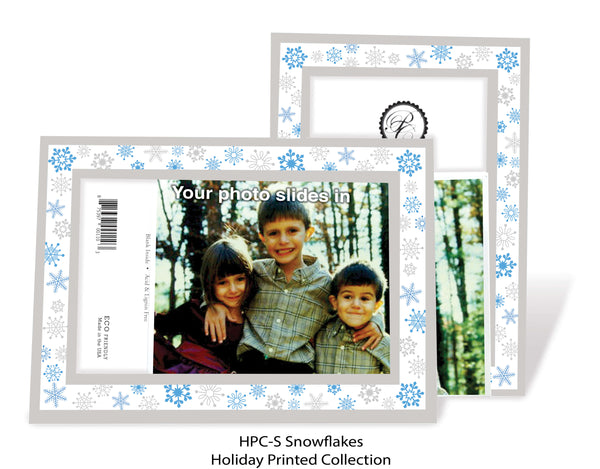 Snowflakes Holiday Printed Photo Greeting Cards