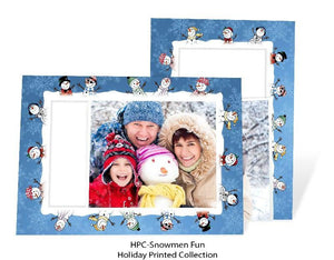 Snowmen Fun - blank inside-Photo note cards-Plymouth Cards