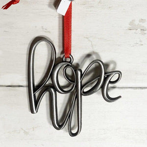 Hope Christmas ornament