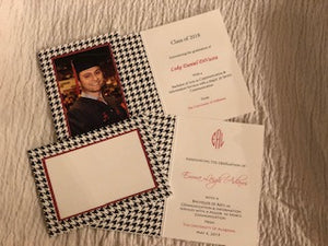 Houndstooth Photo Insert Note Cards - Graduation Printed collection (color #CPC-HT)