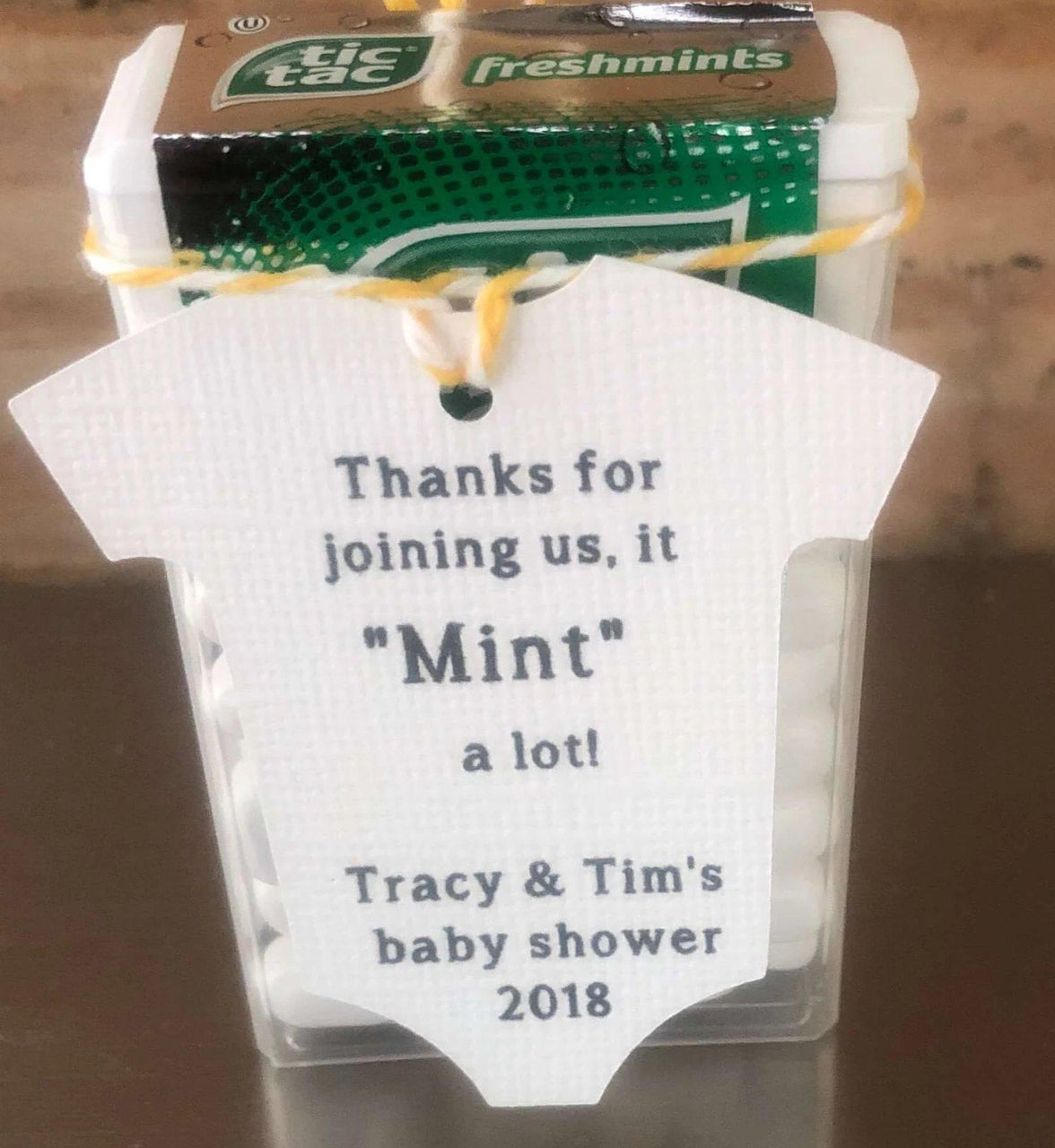 "Baby Onesie - ""Thanks for Joining us it MINT a lot!"""