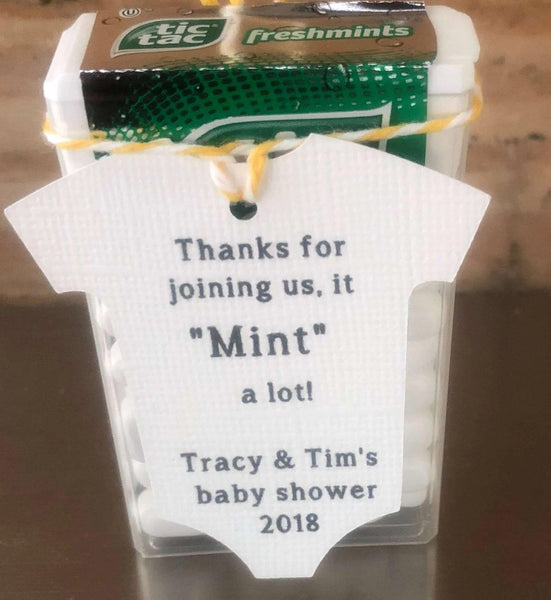 "Baby Onesie - ""Thanks for Joining us, it MINT a lot!"""