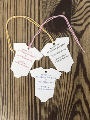 "Baby Onesie - ""10 Little Fingers & 10 Little Toes""-Gift Tags-Plymouth Cards"
