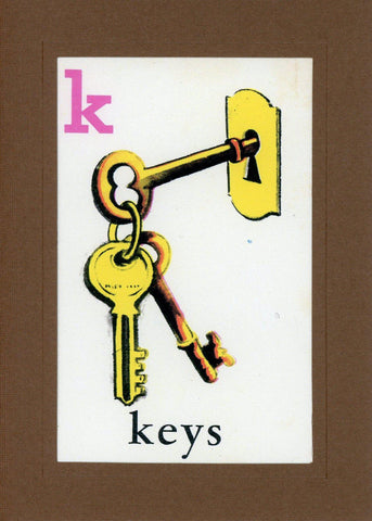 K is for Keys - PLYMOUTH CARD COMPANY  - 1