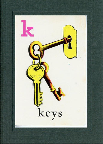 K is for Keys - PLYMOUTH CARD COMPANY  - 2