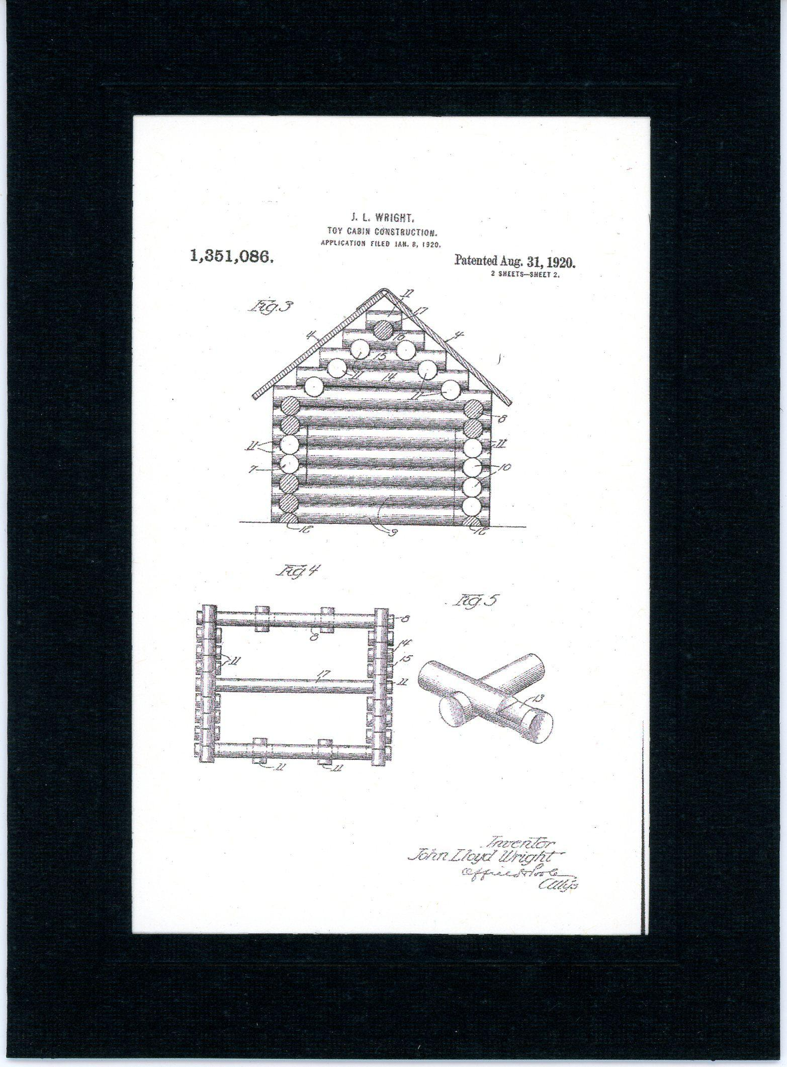 Lincoln Logs 2-Greeting Card-Plymouth Cards