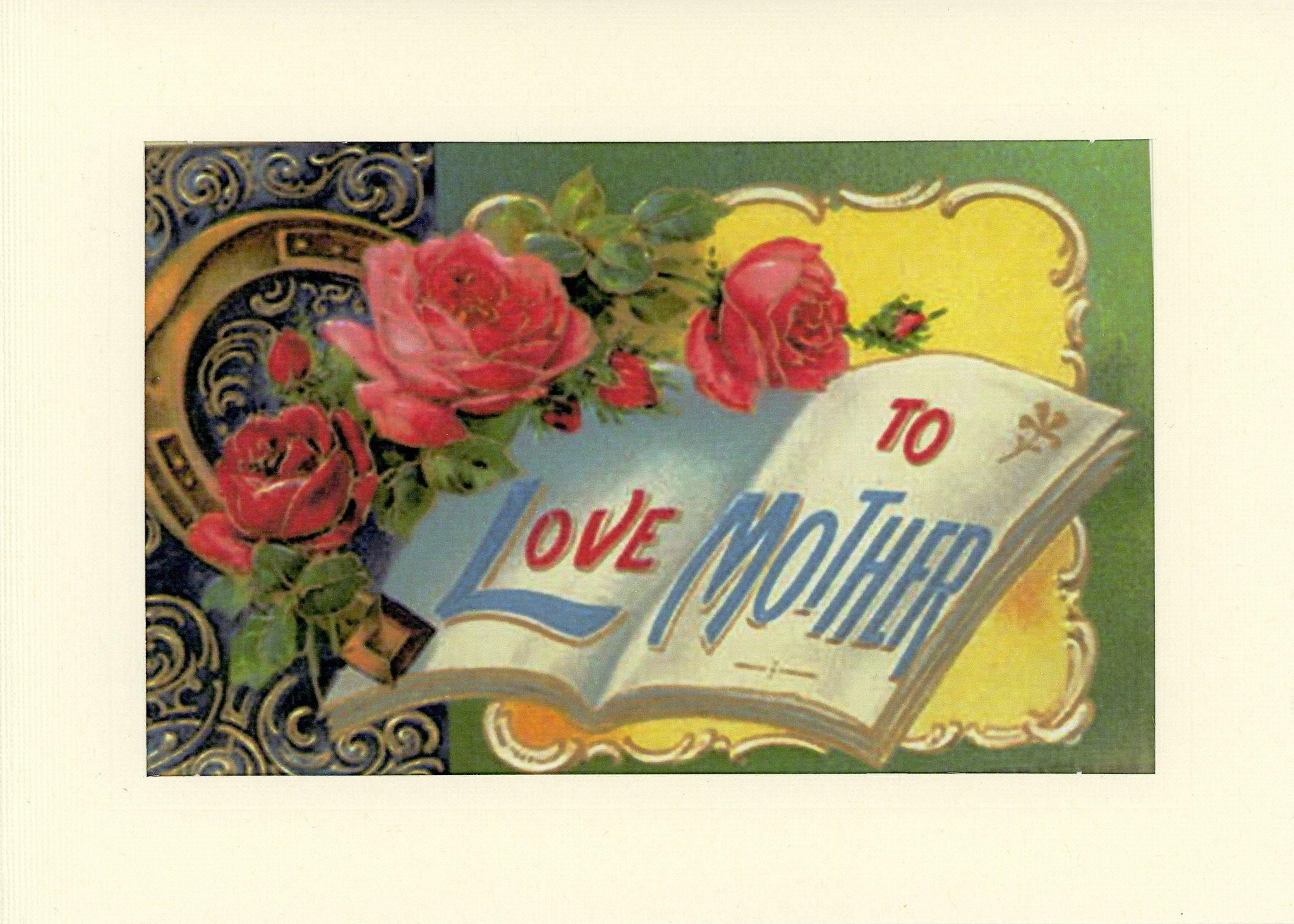 To Love Mother-Greetings from the Past-Plymouth Cards
