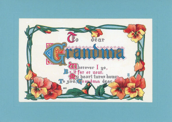 To Dear Grandma - PLYMOUTH CARD COMPANY  - 1