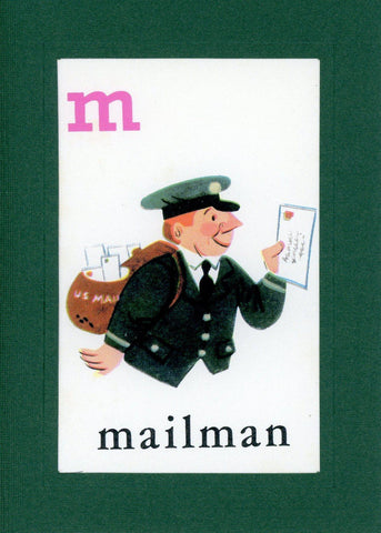 M is for Mailman - PLYMOUTH CARD COMPANY  - 1