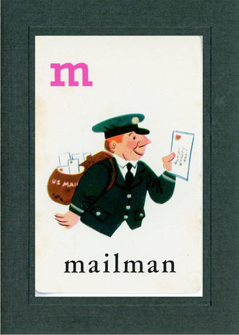 M is for Mailman - PLYMOUTH CARD COMPANY  - 2