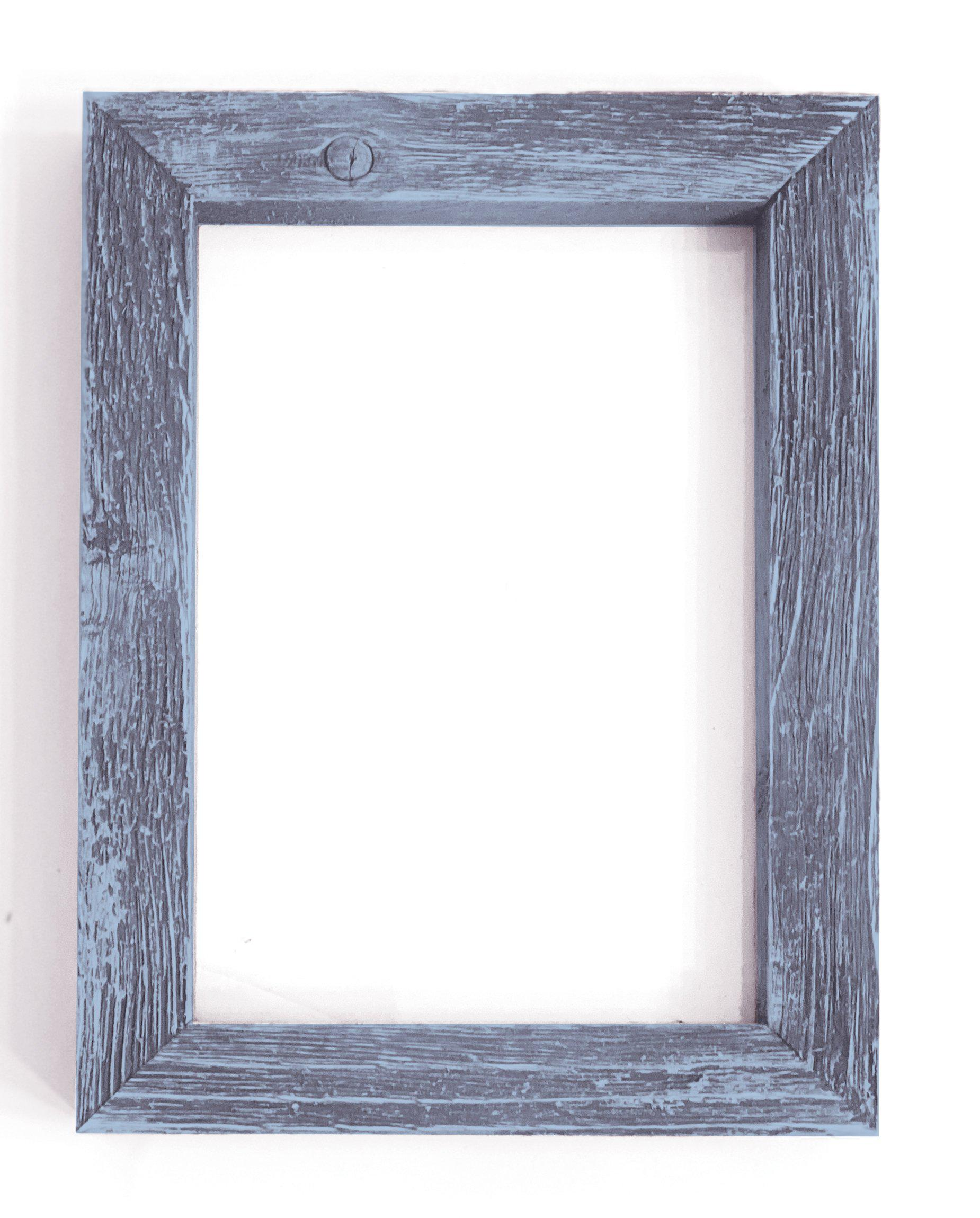 Weathered Gray Rustic Picture Frame-Plymouth Cards