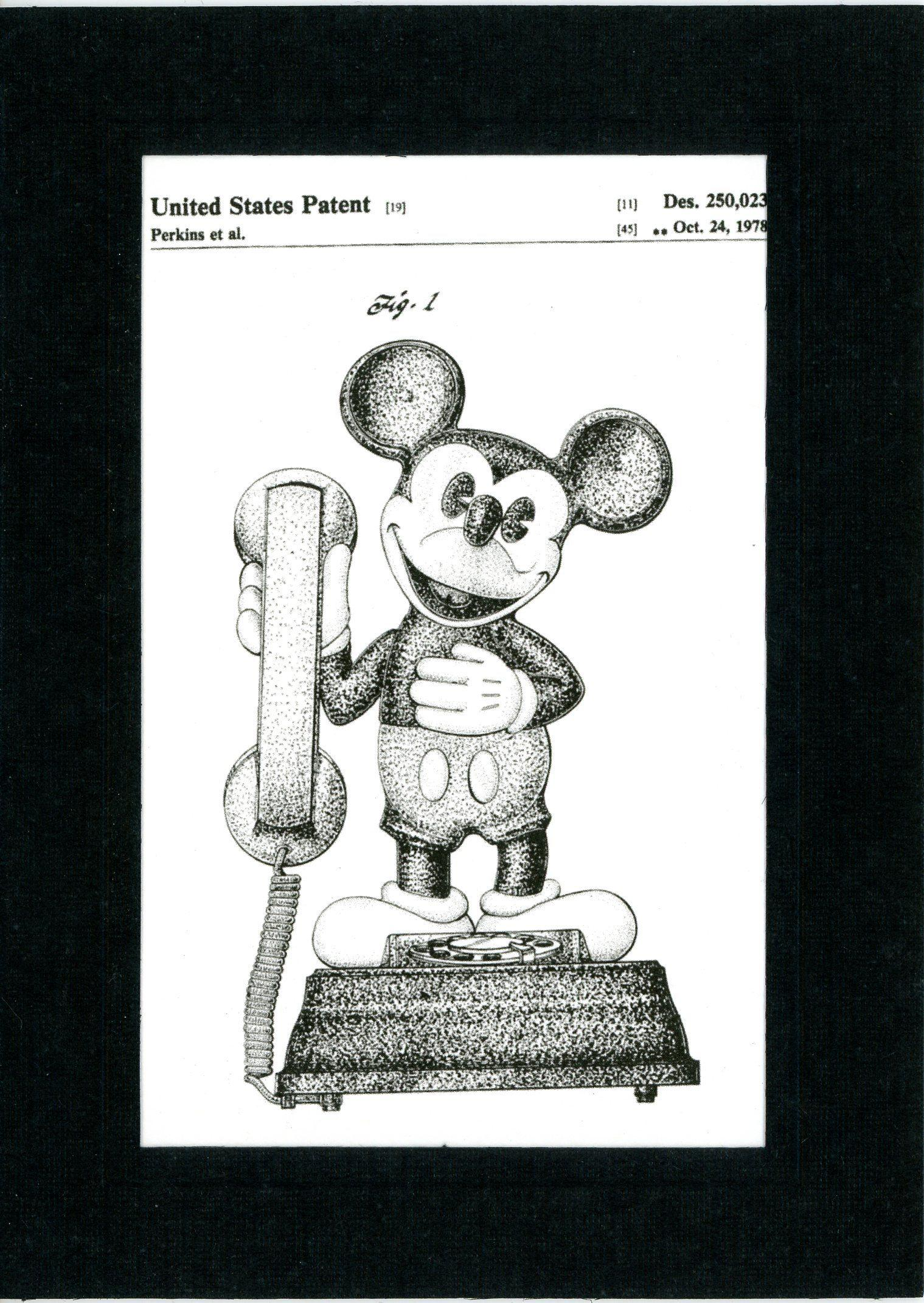 Mickey Mouse telephone-Greeting Card-Plymouth Cards