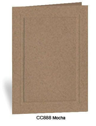 Mocha Photo Insert Note Cards - Coffee collection (color #COC888)