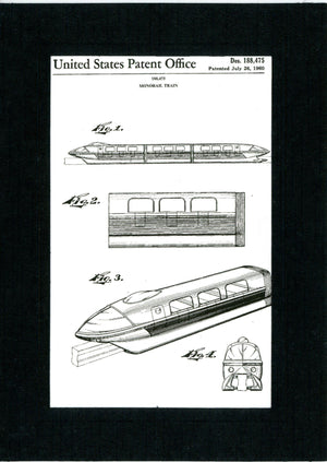Monorail Patent in Black