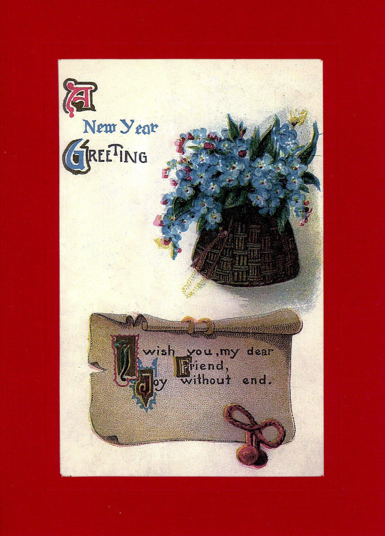 A New Year Greeting-Greetings from the Past-Plymouth Cards