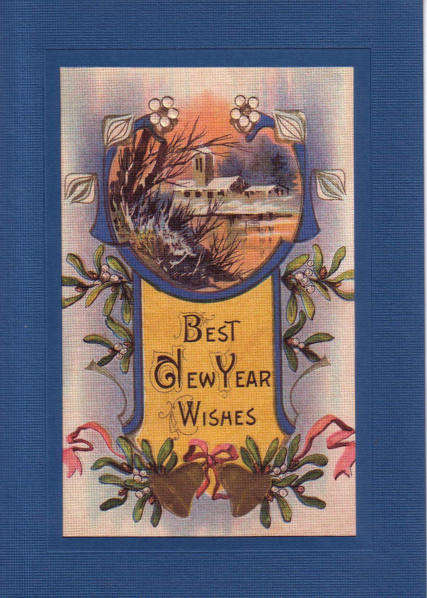 Best New Year Wishes-Greetings from the Past-Plymouth Cards