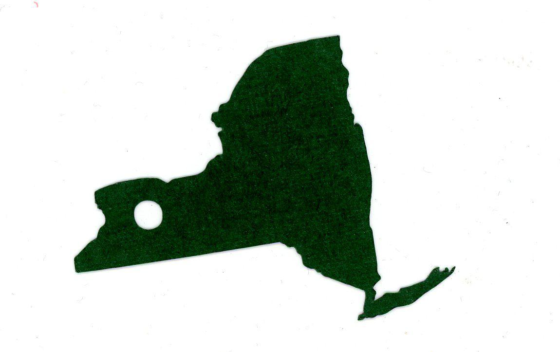 New York State Shape Gift Tag-Gift Tags-Plymouth Cards