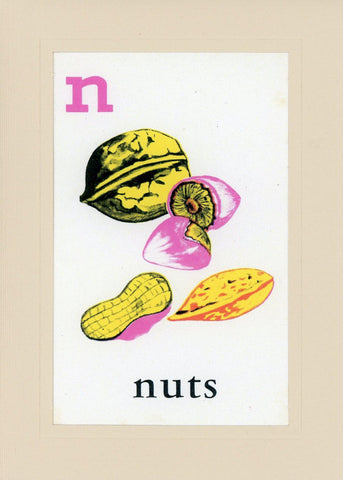 N is for Nuts - PLYMOUTH CARD COMPANY  - 1