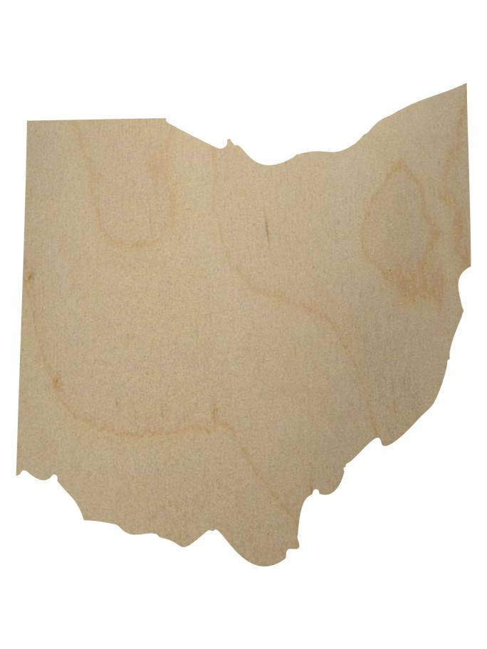 Ohio State Shape Gift Tag-Gift Tags-Plymouth Cards