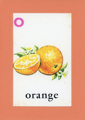 O is for Orange - PLYMOUTH CARD COMPANY  - 1