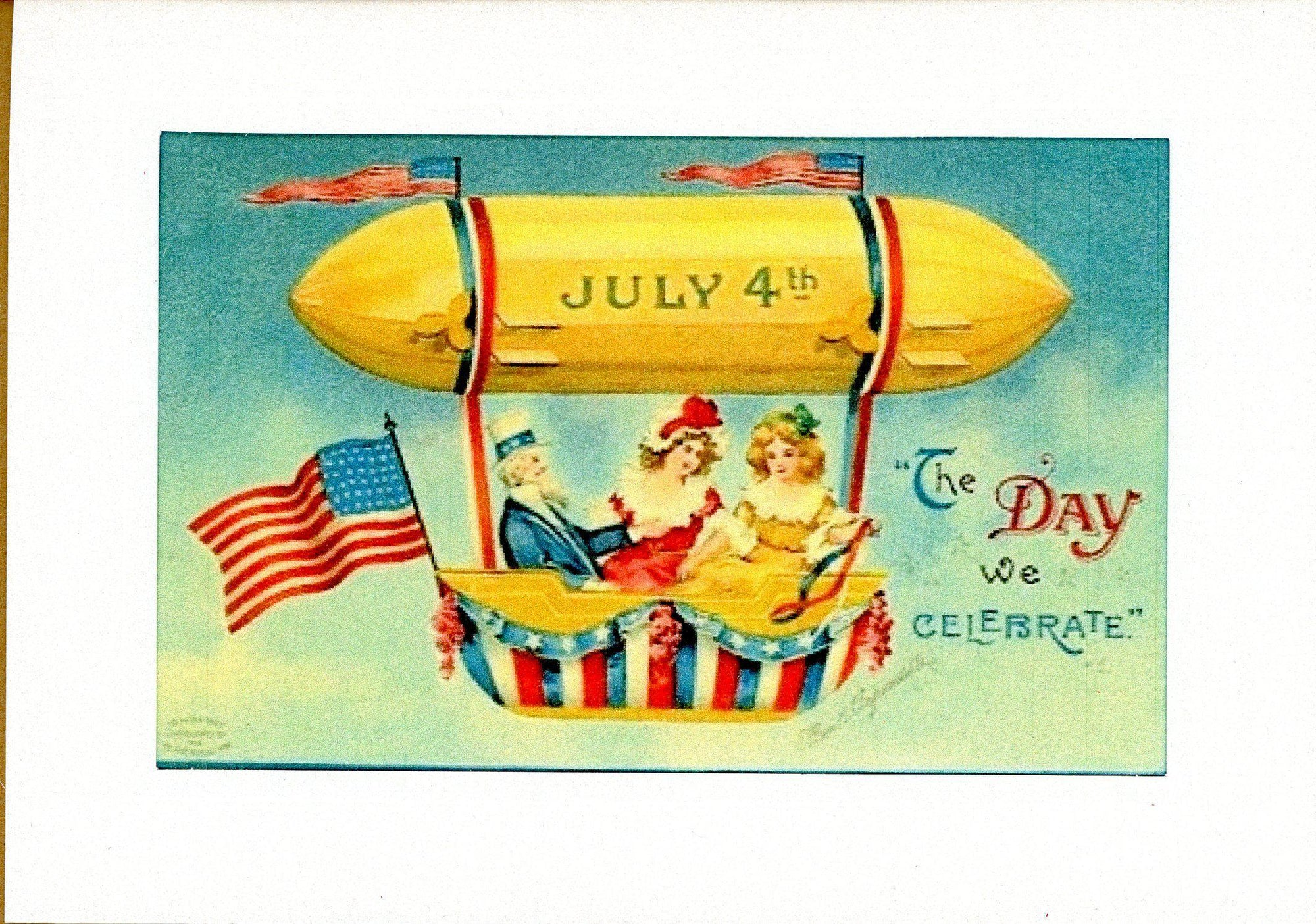 July 4th - Day We Celebrate-Greetings from the Past-Plymouth Cards