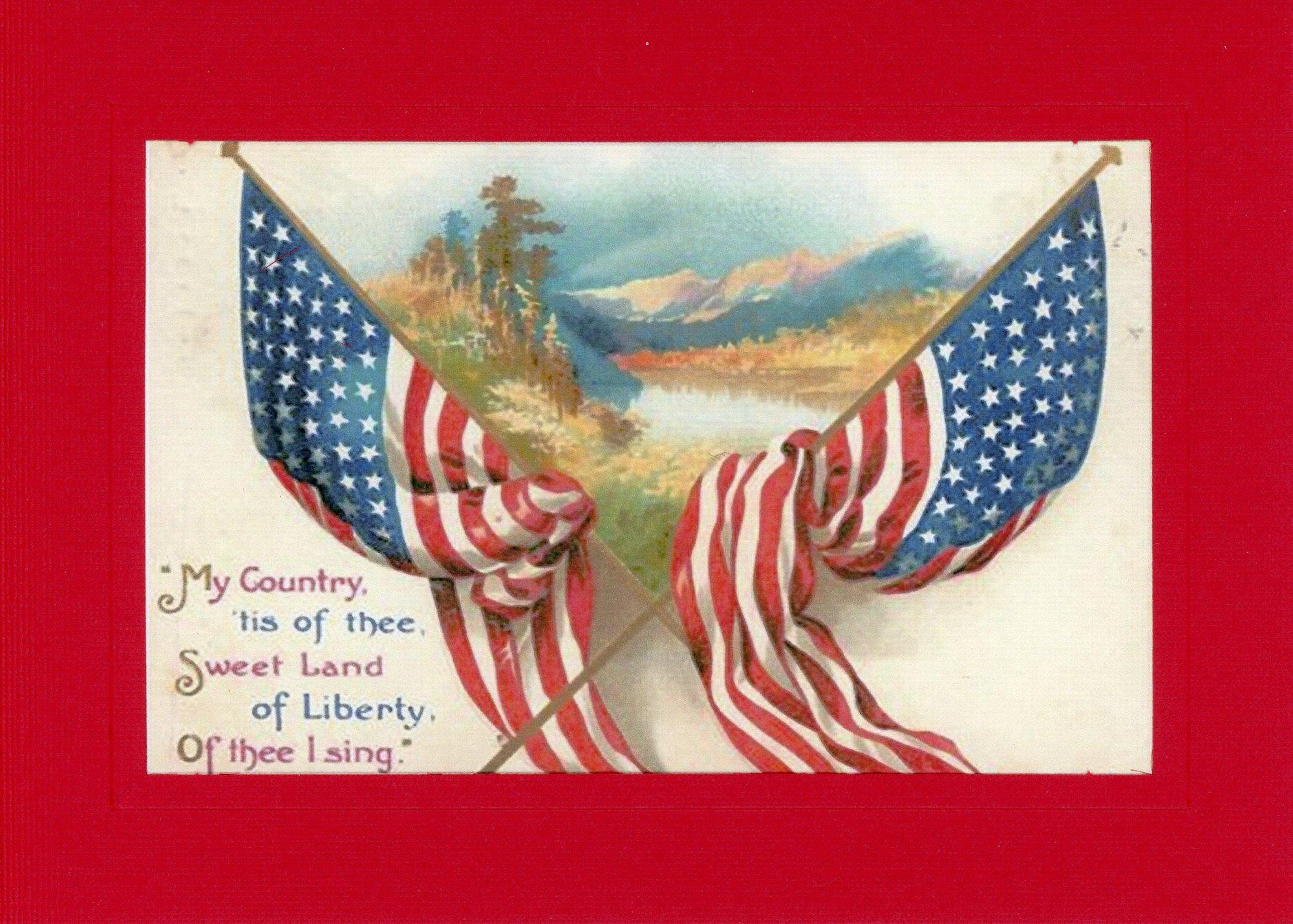 My Country 'Tis of Thee-Greetings from the Past-Plymouth Cards