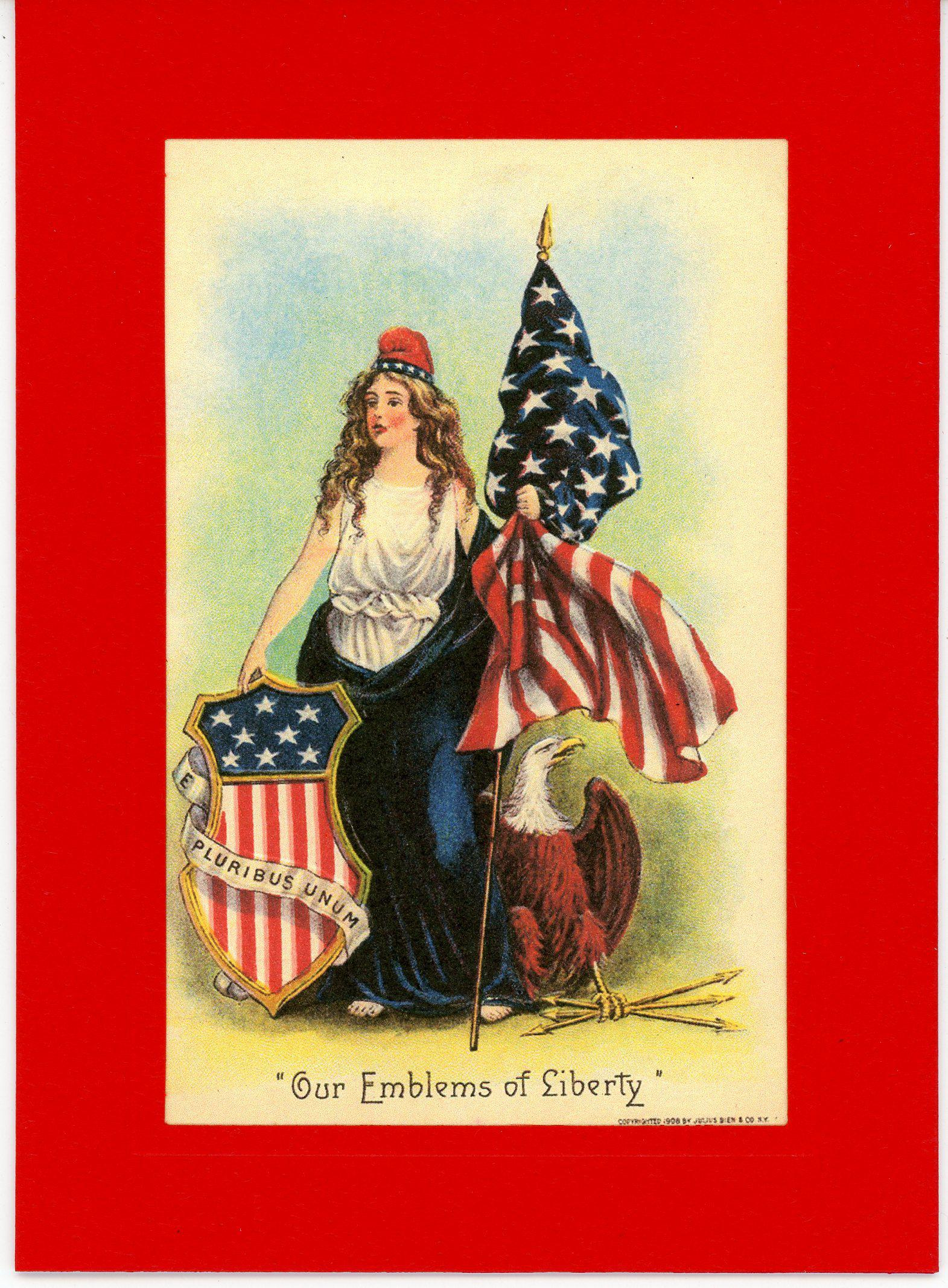Our Emblems of Liberty-Greetings from the Past-Plymouth Cards