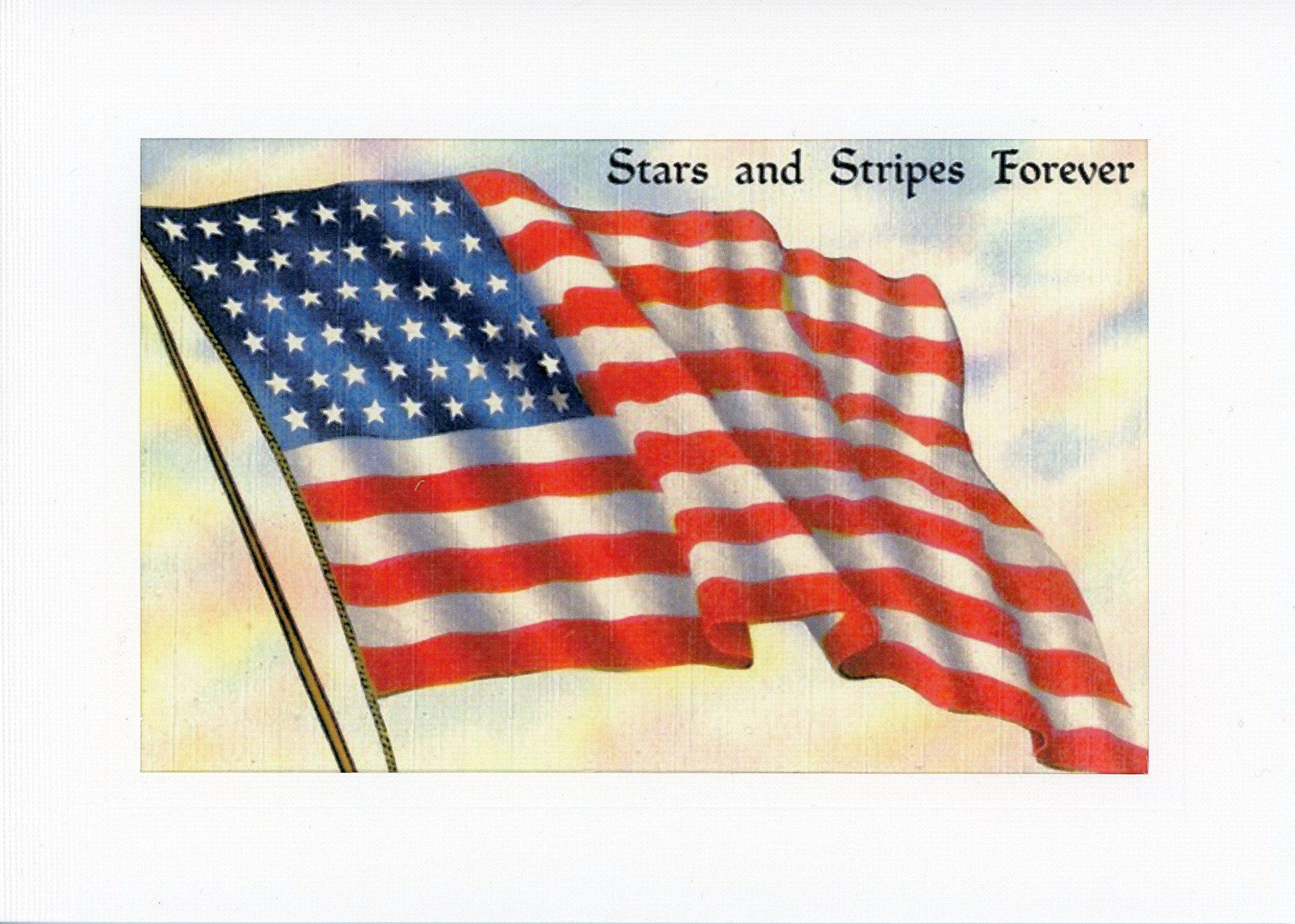 Stars and Stripes Forever-Greetings from the Past-Plymouth Cards