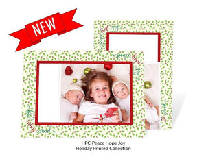 Peace Hope Joy photo insert card front