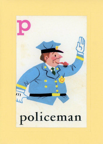 P is for Policeman - PLYMOUTH CARD COMPANY  - 1