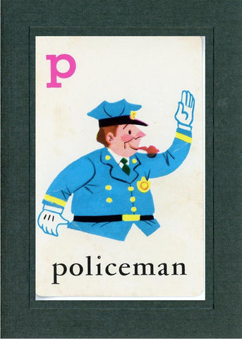 P is for Policeman - PLYMOUTH CARD COMPANY  - 2