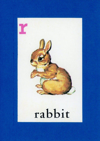 R is for Rabbit - PLYMOUTH CARD COMPANY  - 1